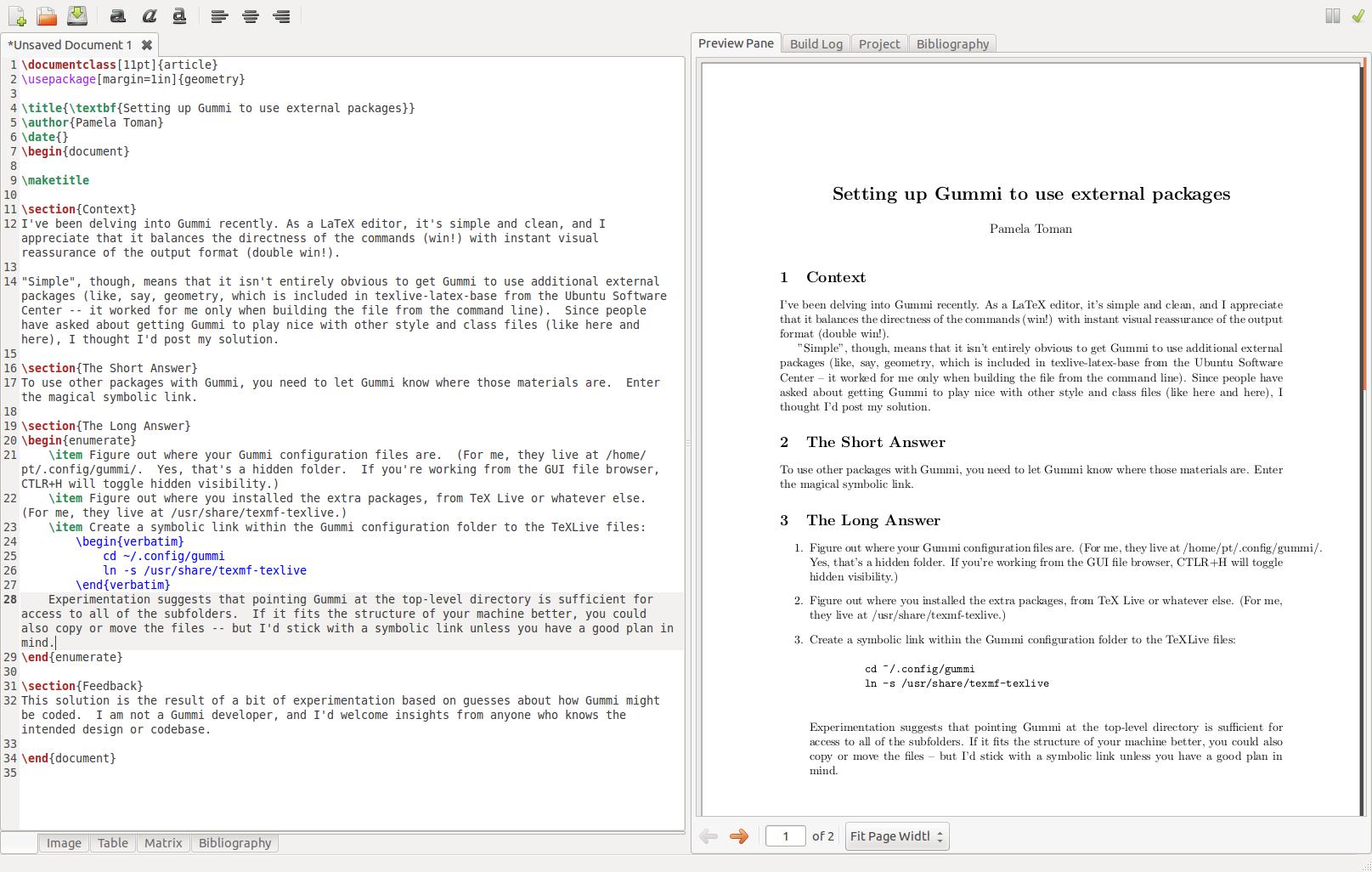 Linux pamela toman screenshot of gummi in action buycottarizona
